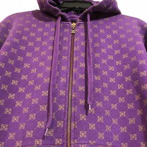 Purple and Gold Krew Hoodie(LG)